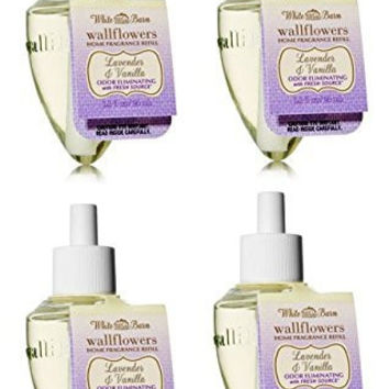 Bath & Body Works Lavender Vanilla Wallflower - Four (4) Refill Bulbs - Odor ...