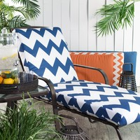 Valencia Outdoor Chaise Lounge Cushion - Boxed Edge - 72 x 22 x 2 in. | www.hayneedle.com