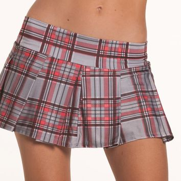 Bewicked Female Pleated Plaid School Girl Skirt BW830GY