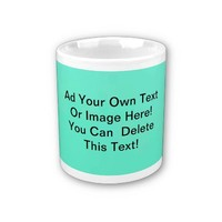 Mint Green Solid Fashion Color - Customize It! Coffee Mugs
