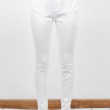 Basic Stretch Skinny Jean {White}