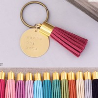 Gamma Phi Beta Sorority Tassel Keychain | A-List Greek Designs