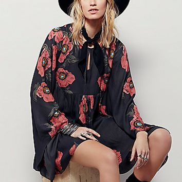 Free People Womens Poppy Fields Forever Dress