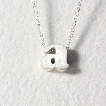 sterling silver block letter initial necklace a by christinakober