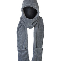 Hooded Pocket Scarf in Gray – bandbcouture.com