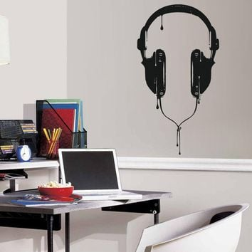 ik818 Wall Decal Sticker headphones bass music artist rock band star teens