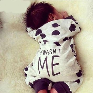 Fashion Baby Boy Girl Clothes Newborn Toddler Long-sleeved Dot jumpsuit Infant Clothing set Outfits