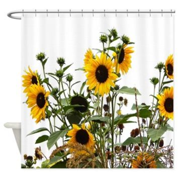 Sunflowers In Garden Shower Curtain> Garden Of Sunflowers> Flowersforyou