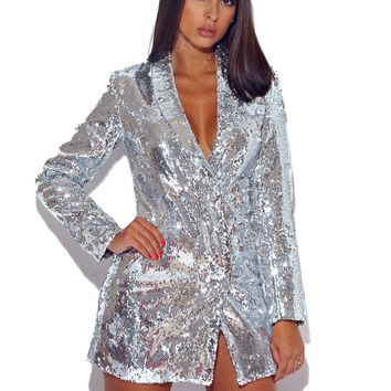 Only You Sequin Blazer Dress