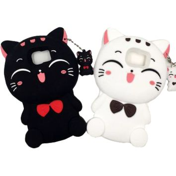 Kawaii Cat Samsung Phone Case With Charm