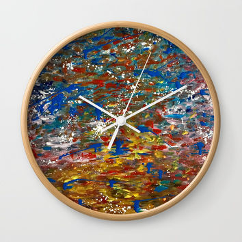 Color Splash Energy Wall Clock by Artist CL