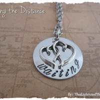 Long Distance Relationship - Hand Stamped - Waiting