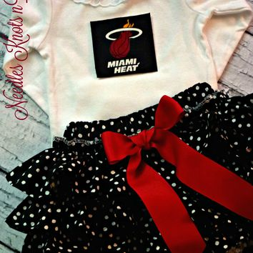 Miami Heat Girls Basketball Outfit, Baby Girls Coming Home Outfit, Game Day, Baby Shower Gift