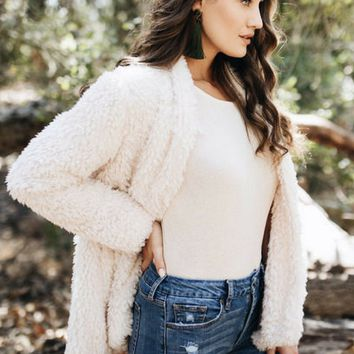 Beige Faux Fur Coat