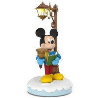 Disney Christmas Carolers Merry Mickey Musical Ornament With Light and Motion