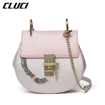 CLUCI Women's Shoulder Fashion Shell Bags College Summer 2017 Cross Body Luxury Famous Brands Messenger Bag Evening Sac Femme