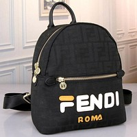 Fendi  Women Fashion Leather Satchel Shoulder Bag Handbag