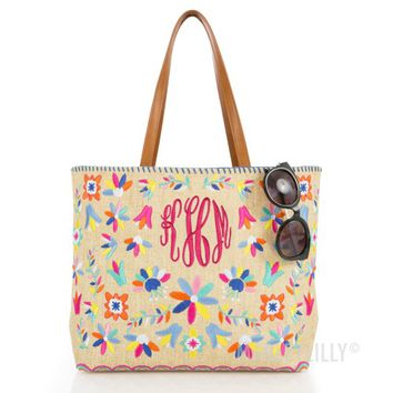 Monogrammed Mexicali Tote Bag | Marleylilly