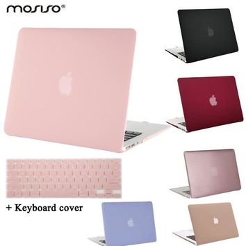 MOSISO for Macbook Pro 13.3 15.4 inch Pro Retina 13 15 Crystal Matte Plastic Hard Case Cover for Mac book Air 13 11 Laptop Shell