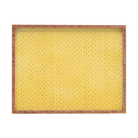 Allyson Johnson Sunny Yellow Dots Rectangular Tray