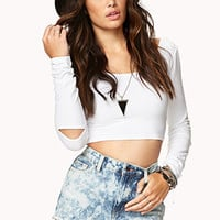 Edgy Cutout Crop Top