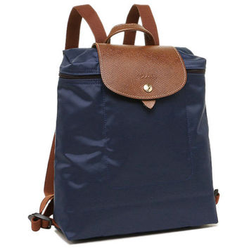 Longchamp Le Pliage Foldable Backpack Navy MSRP LC LON089/1699-556  $125