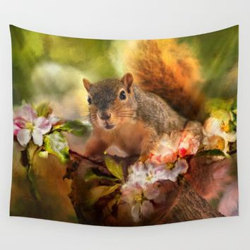 You Foxy Thing Wall Tapestry by Theresa Campbell D'August Art