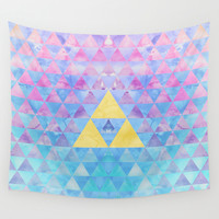 Zelda Geometry Wall Tapestry by Enthousiasme