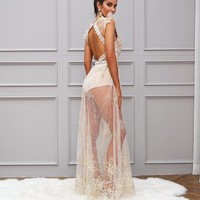 Estella see through maxi dress
