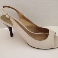 Bandolino Shoes Womens Size 9.5 M Slingbacks 9 1/2 Heels Leather Aveline