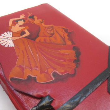 Journal - Red Leather Journal, Notebook, Diary - Sevillana