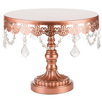 "10"" Crystal-Draped Cake Stand 