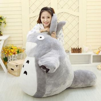 1pcs 55CM Famous Cartoon Totoro Plush Toys Smiling Soft Stuffed Toys High Quality Dolls Factory Price home decoration gift