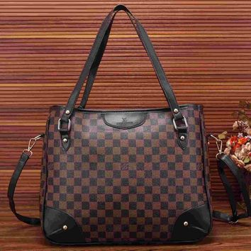 Day-First™ Louis Vuitton Women Fashion Leather Satchel Shoulder Bag Handbag Crossbody
