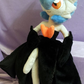 Pokemon inspired shiny Mega Gardevoir (shiny Mega Sirnight) (60 cm high) plushie made of minky, full poseable art doll!