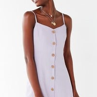 UO Button-Down Strappy Back Linen Dress | Urban Outfitters