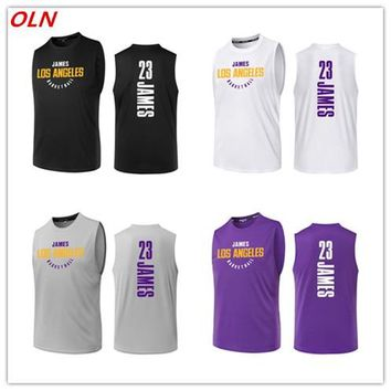 Oln Cheap Los Angeles 23 Lebron James Jersey Men Print Basketball Jerseys Training Uniforms Running Shirts Sports Wear