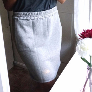 J.Crew 100% Cotton French Terry Pencil Skirt