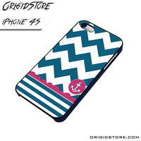 Chevron Anchor Sailor Case For Iphone 4/4S Case