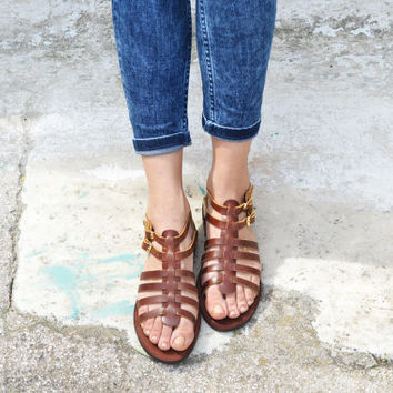 KLEOPATRA, Sandals, Leather sandals, Gladiator sandals, Greek women's sandals