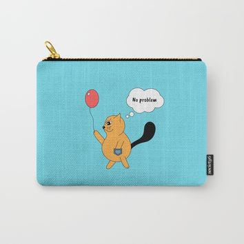 Beatrice. The cat that thinks... No problem Carry-All Pouch by ArtGenerations