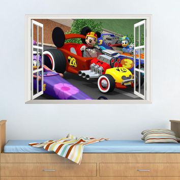 Hot Mickey Mouse Minnie Mouse wall sticker children room nursery decoration diy adhesive mural removable vinyl home wallpaper
