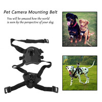 New Action Camera Accessories Dog Pet Fetch Hound Chest Strap Belt Mount For Gopro Hero 4 3+ 3 2 1 SJ4000 SJ6000 Sports Camera