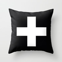 white plus Throw Pillow by holli zollinger