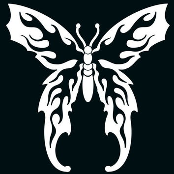 Butterfly Flames Die Cutz Car Decal