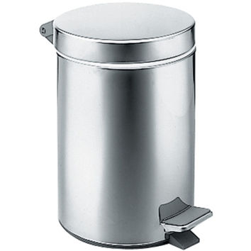 BA Hotel Round Wastebasket Trash Can for Bathroom, Kitchen, Office - Brass