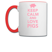 Keep calm and love Pigs - Coffee/Tea Mug