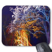 Mystical Magical Lighting Trees Mouse Pad