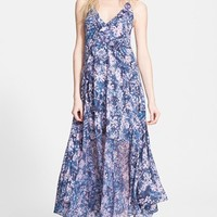 Women's Rebecca Taylor 'Kiku' Floral Print Silk Camisole Dress,