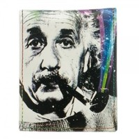 Bioworld Mens Einstein Neon Cosmic White Bifold Wallet (Black)